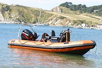 Our 5.5 metre Humber Assault in Lulworth Cove