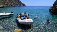 Lissos- Crete, my kids on boat