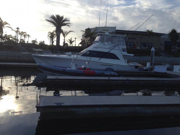 """Wreck shop""  Channel Islands, Ca 48 Ocean Super Sport Zodiac 750 Radon built wheel house Boston Whaler 130ss"