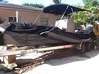 Zodiac SWAT team boat to tow boat conversion project