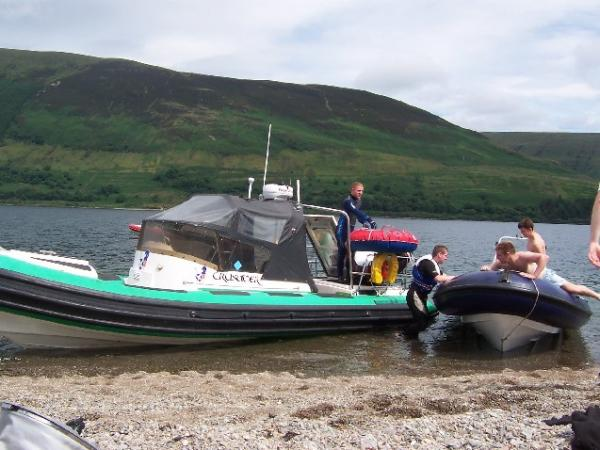 Old crusader loch striven