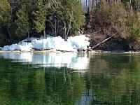 The last of the lake ice on the north shore of Georgina Island