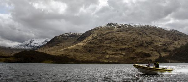 RIB on Loch Etive