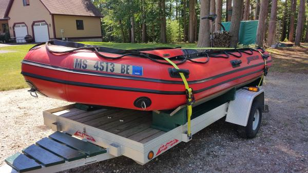 Boat on trailer  8 15