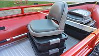 Storage boxes with swivel Seat attached