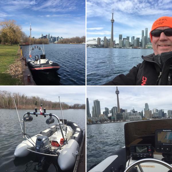 Toronto Island cruising April 2016.