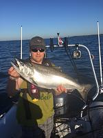 Salmon caught on lake Ontario, Toronto, Canada