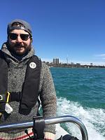 First cruise on Lake Ontario, April 8 2017
