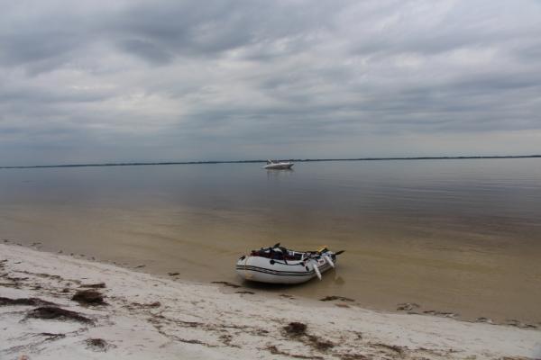 Dinghy to beach Carrebelle, Florida