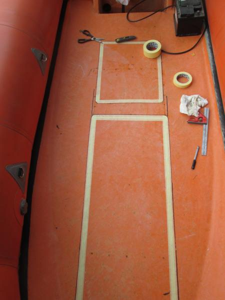Original deck surface has been sanded, console & jockey marked out