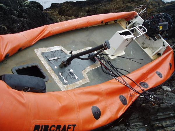 Carbery break destroyed this lovely Ribcraft - not mine but a sad sight.