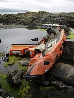 Lencraft also lost on Carbery Island. Again not mine but scary to see what happens to a boat going on the rocks. I reckon after seeing this, swim...