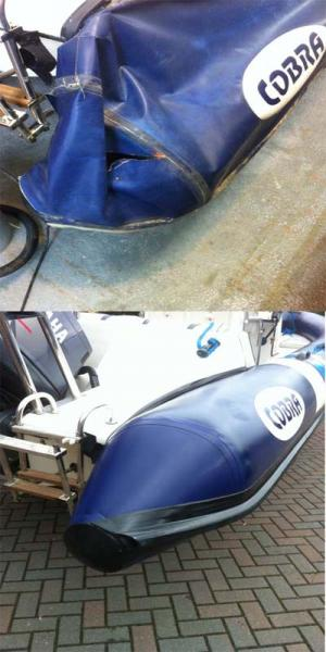 Cobra Rib repair by replacing the cone end.