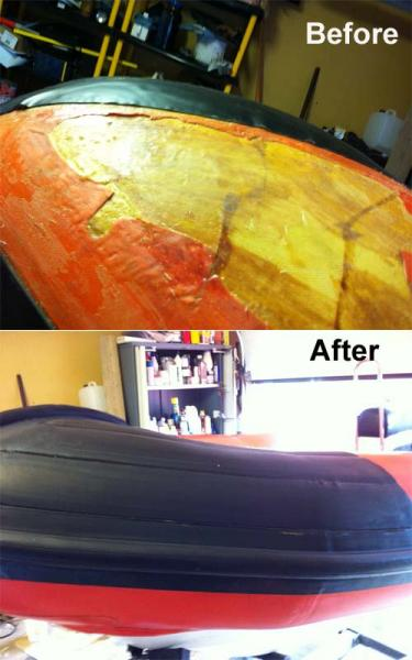 Repairs to Tornado bow