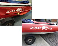 Zapcat repair by Rib Shop.   Rib Shop also sell parts for Zapcats and Tohatsu outboards.