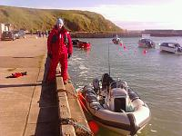 Safely back in Cruden Bay (Port Errol harbour).