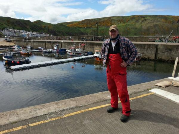 My brother (its Gardenstown not St Tropez!)