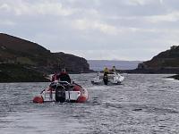 Squeezing thru The Crowlins - near Isle of Skye