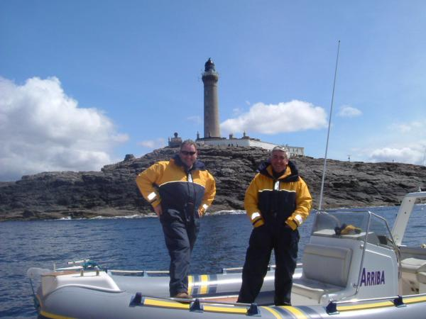Brian & Dougie at Ardnamurchan Point