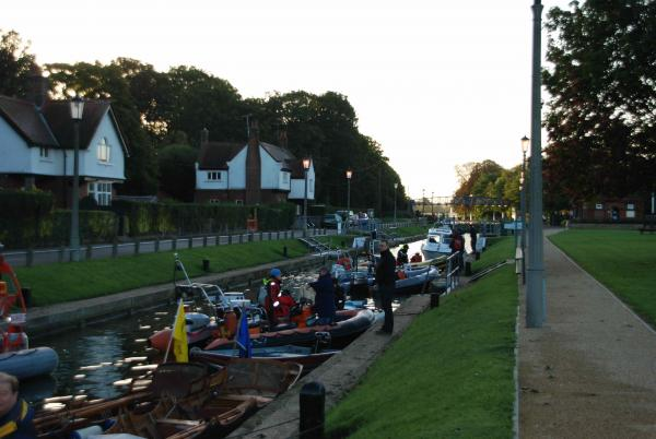 Traditional Thames Rowing Association at Teddington Lock