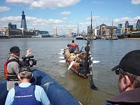 New Zealand Waka on the River Thames