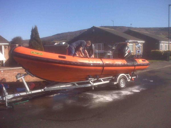 Another friends boat Ocean Pro 6.5 suzi 150