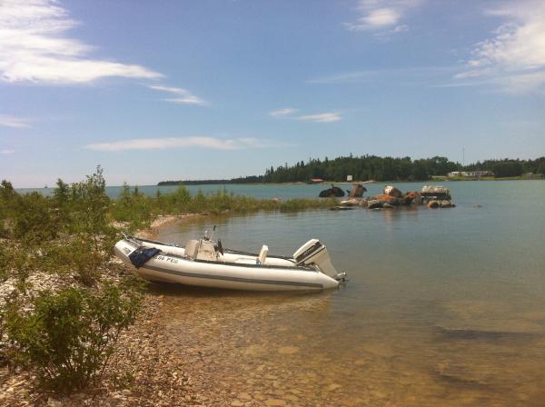 Shore exploration Frying Pan Island on Lake Huron