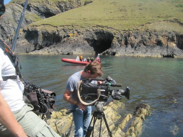 Filming Celebrity Snorkelling with Cariad@Iaith