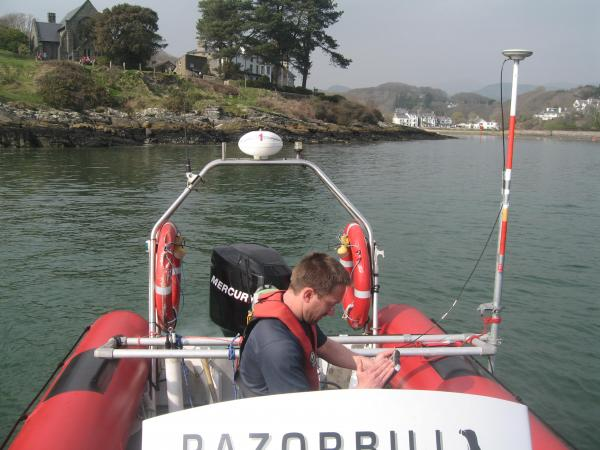 Bathymetric Survey using 'Razorbill' - N Wales
