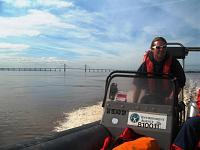 Tidal Severn water sampling (using the inland waterways teams Delta)