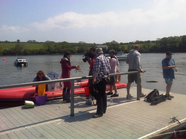 Filming Celebrity Lobster Potting with C@I Lucie Jones, Gareth Thomas and Alex Winters......