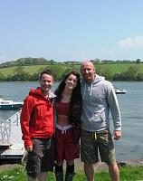 Lucie Jones, Gareth Thomas and Alex Winters......post charter