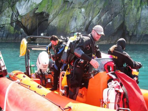 Diving Porthgain - 'Razorbill' alongside 'Gemma' with Monty Halls