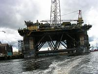 OIL rig on the tyne