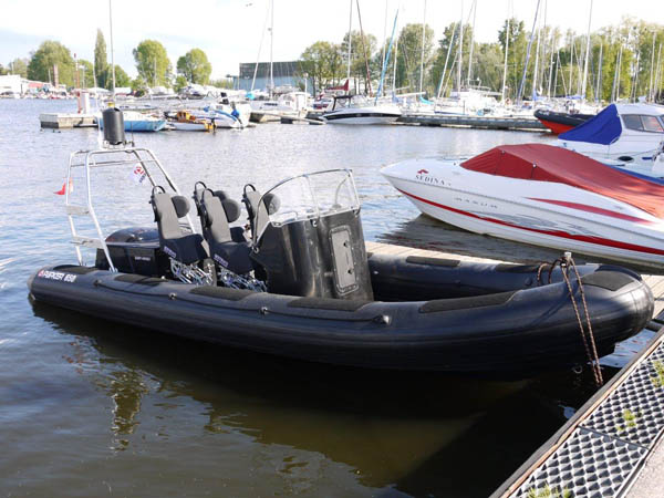 Parker ex demo rib which is now owned by greenpeace with 4 x S3J jockey seats