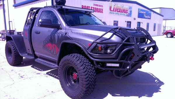 This is what he made just to haul the ZHT 733. Black Ops.